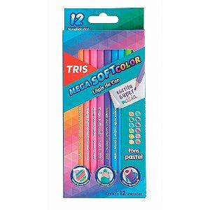 Lápis de Cor MegaSOFT Color Tons Pastel TRIS