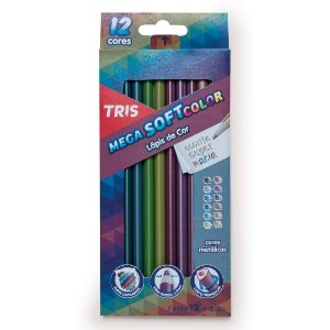Lápis de Cor MegaSOFT Color Tons Metálicos TRIS