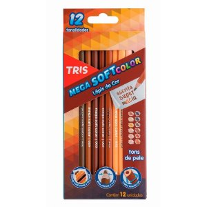 Lápis de Cor MegaSOFT Color Tons de Pele TRIS