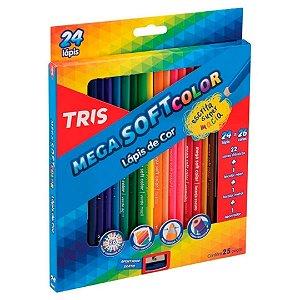Lápis de Cor MegaSOFT 24 Cores TRIS