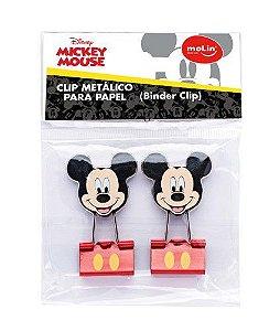 Binder Clips Mickey Metálico Molin c/2 22691