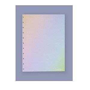Refil Caderno Inteligente Rainbow Pautado 120g 30 folhas