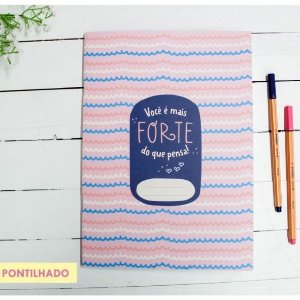 Caderno Flex Maxi Pontilhado Você é Mais Forte 40 folhas