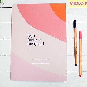 Caderno Flex Maxi Pautado Seja Forte 40 folhas
