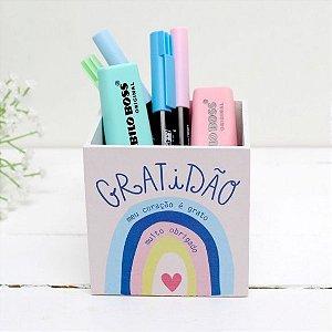 Porta Lápis Gratidão Papelote