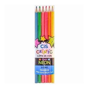Lápis de Cor Neon 6 cores Cis