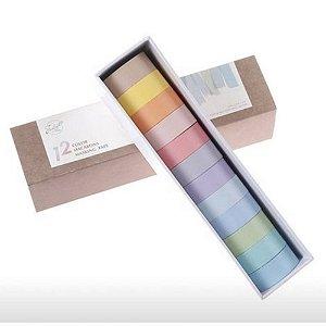 Washi Tape Box Pastel 12 un.