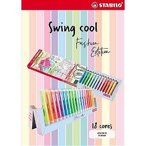 Caneta Stabilo Swing Cool Fashion Edition c/18 cores