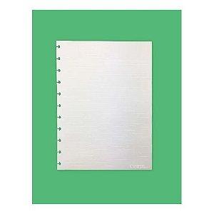 Refil Caderno Inteligente Pautado Linhas Brancas 90g 50 Folhas