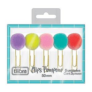 Clips Pompom 50mm c/5 un Tilibra