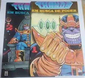 Coleção Thanos Vingadores Guerra Infinita Desafio Infinito - 8 HQ's