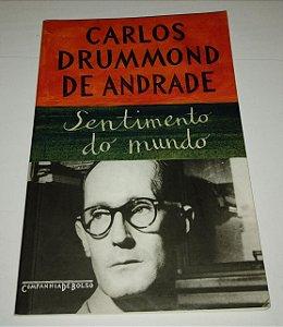 Sentimento do mundo - Carlos Drummond de Andrade (anotações a lápis) - Cia de Bolso