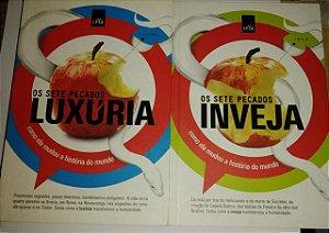Os sete pecados Inveja + Luxúria - Ed. Leya - dois livros