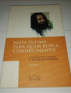 Noa íntima para quem busca o conhecimento vol. 1 - Sri Sri Ravi Shankar