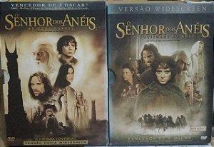 DVD's O Senhor dos anéis - A Sociedade do anel + As Duas torres (duplos)