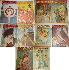 Lote Revistas antigas raras Eu Sei Tudo 1925 - 1947 (10 revistas)