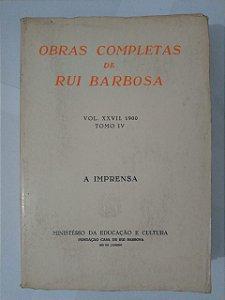 Obras Completas de Rui Barbosa - Vol. 27