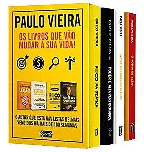 Box Paulo Vieira - Os livros que vão mudar a sua vida - 4 volumes - Lacrado