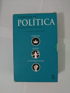 Box o Essencial da Política C/3 Livros - Maquiavel, Hobbes e Rousseau