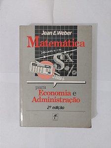 Matemática para Economia e Administração - Jean W. Weber