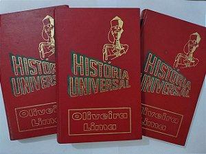 Coleção História Universal - Oliveira Lima C/3 volumes