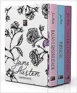 Box Coleção Jane Austes - Grandes Obras 3 volumes: Razão e Sensibilidade, Orgulho e Preconceito e Persuasão - Novo Lacrado