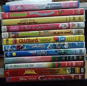 Lote DVD's + Blu-ray Infantil - 12 filmes / Desenhos
