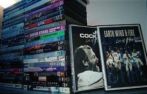 Lote DVD's Shows Clássicos Rock - 49 itens originais