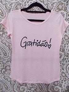 Blusinha moda Blogueira Gratidão