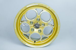 Jogo de rodas Replica Weld C10 Bolinha, Preta ou Dourada, Furação 4x100 / 5x114 Tala 4 / 7