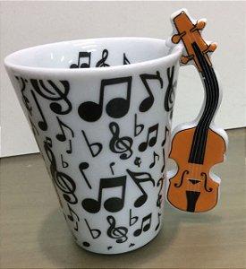Caneca com alça Violino