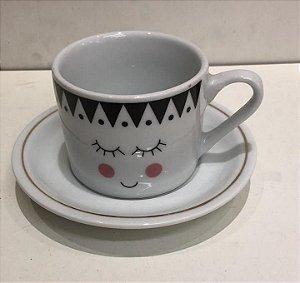 Xicara Chá com Pires Fofura