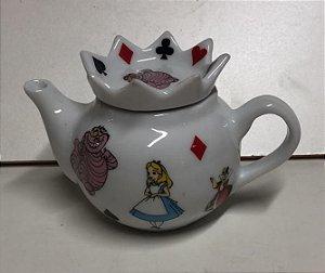 Bule Coroa Alice no Pais das Maravilhas