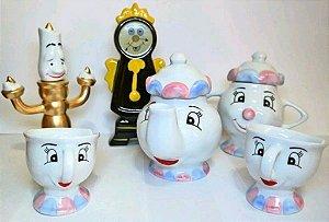 Jogo de Chá ou café A Bela e a Fera ( 6 peças ) - Porcelana