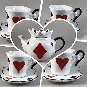 Kit Alice no Pais das Maravilhas  - porcelana - 5 Peças
