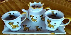 Kit Café Ou Chá 4 Peças Tema Filme O Rei Leão Porcelana