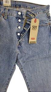 Calça Levi's 501 masculina 100% Algodão - Stone