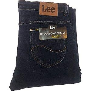 Calça Lee Chicago - Azul Escuro com Laycra