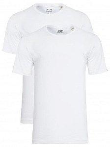 Kit Camiseta Levi´s - Cor Branco com Branco