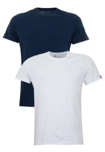 Kit Camiseta Levi´s - Cor Branco com Marinho
