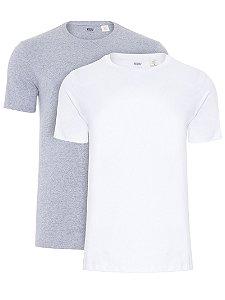 Kit Camiseta Levi´s - Cor Branco com Mescla