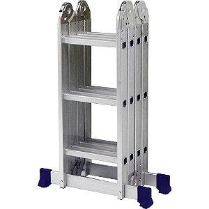 Escada Multifuncional Articulada 4x3 12 Degraus MOR