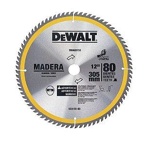 """Disco de Serra 12"""" 80 dentes Para madeira DWA03150"""