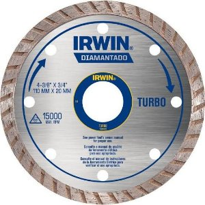 Disco de Corte Diamantado 4.3/8 POL Turbo 110 x 20 MM IRWIN