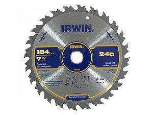"Serra Circular Corte Rápido 7-1/4"" 184mm 24D IRWIN"