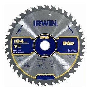 "Serra Circular Corte Rápido 7-1/4"" 184mm 36D IRWIN IW14108"