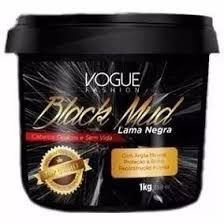 Mascara Capilar Lama Negra Black Mud Vogue 1kg