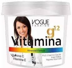 Máscara Vitamina G12 Vogue Fashion 1kg