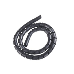 Tubo espiral 1/4 PE preto 5m