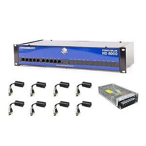 Power Balun Onix - Organizador Para DVR 08 Canais - Compatível c/ Todos DVRs HDCVI / TVI / AHD